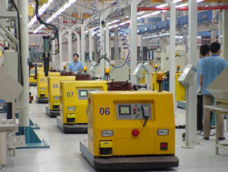AGV系统在汽车行业中的应用