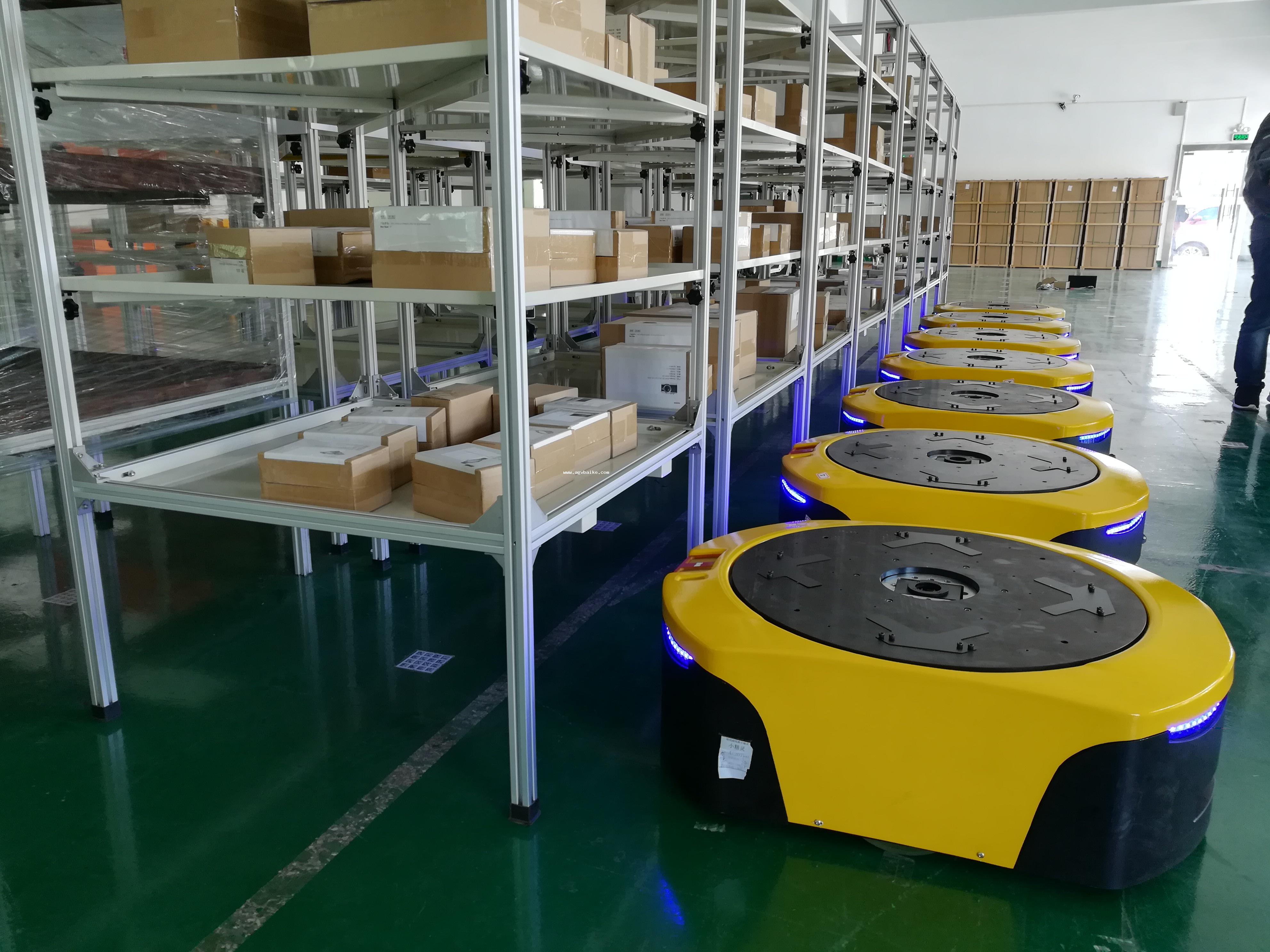 2017AGV案例应用之智能搬运AGV小车